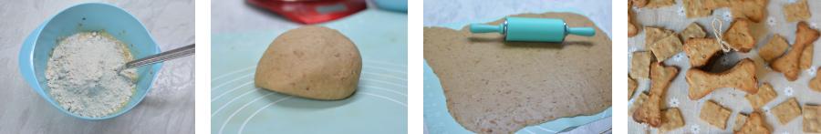 Rezept: Apfel-Sahne Hundekekse selbst backen