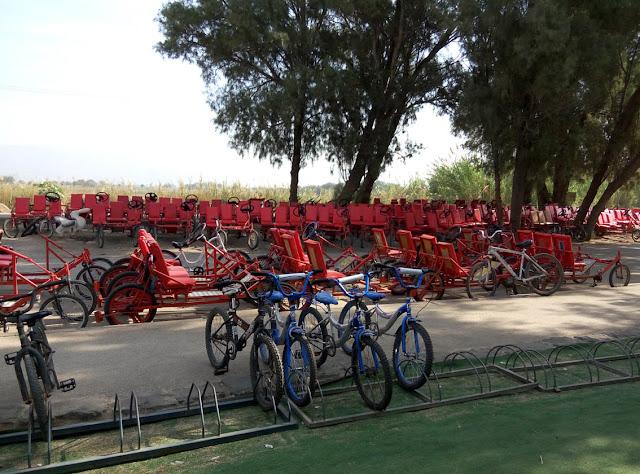 велосипеды и многоместные машины