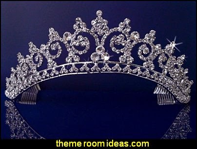 Crystal Rhinestones Crystal Wedding Bridal Pageant Princess Tiara Crown