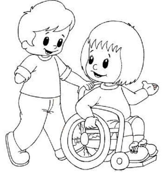 Tranh cho bé tô màu đôi bạn chăm sóc nhau