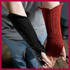 Guantes sin dedos crochet
