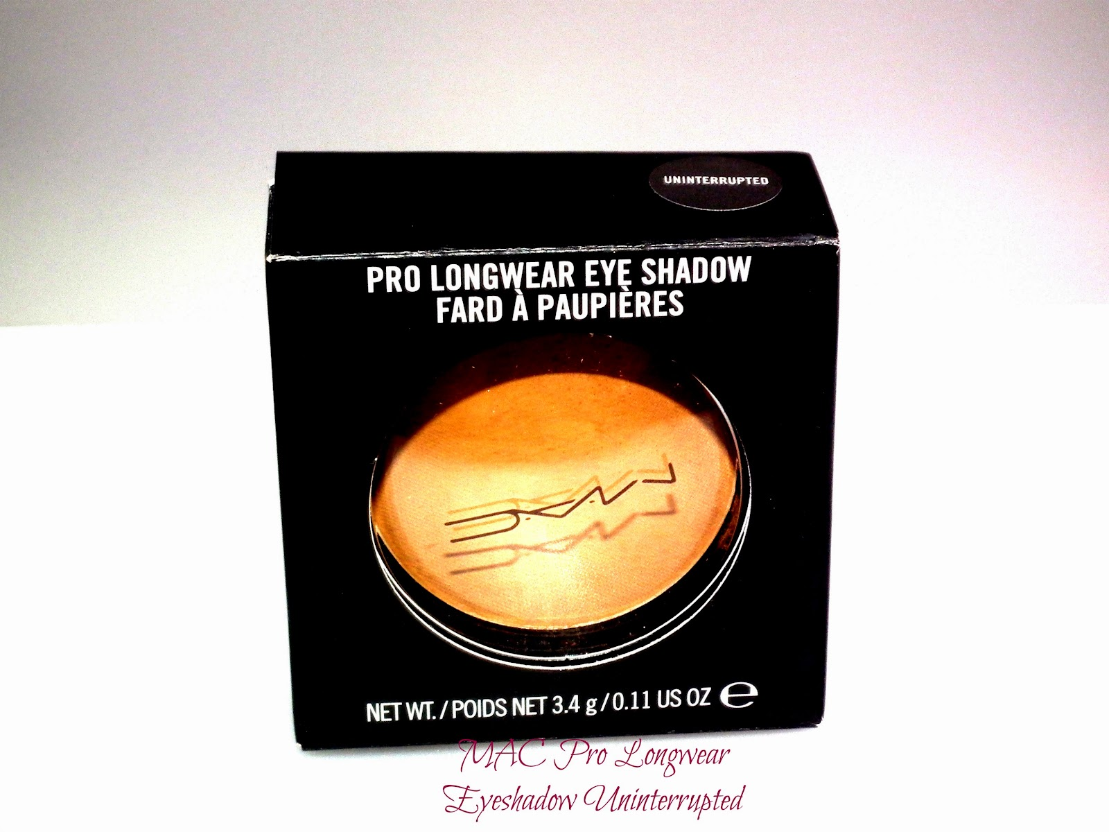 MAC Pro Longwear Eyeshadow Uninterrupted Swatches
