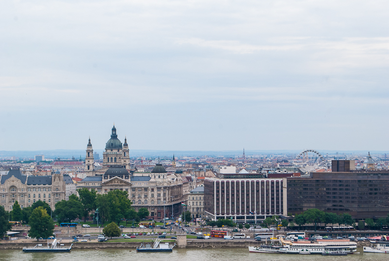 Panoramic view of budapest from the buda castle