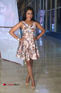Actress Madhu Shalini Stills in Floral Short Dress at RGV Shiva to Vangaveeti Event  0158.JPG