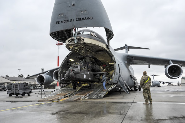 C5 GALAXY DELIVERS APACHE HELICOPTERS TO EUROPE