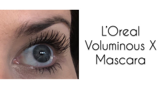 L'Oreal Voluminous X Mascara - Real Life Application - Blackest Black www.HauteHaas.com