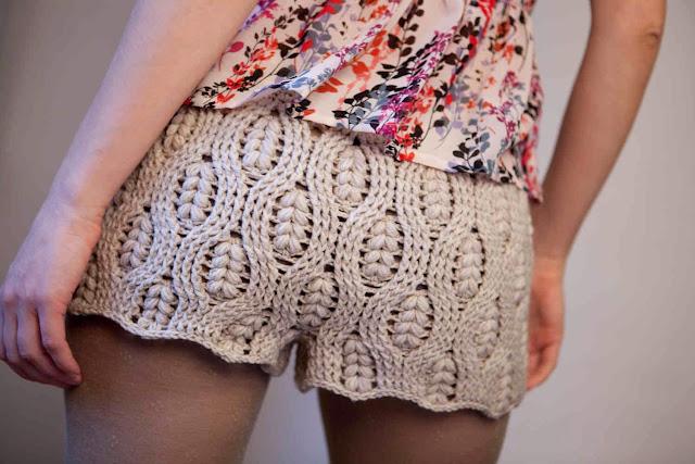 Pantalon Corto Mini Short de Crochet