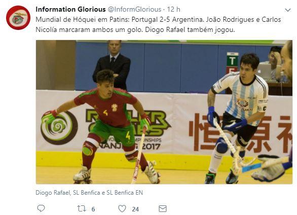 Benfica Carlos Nicolia Hoquei Patins