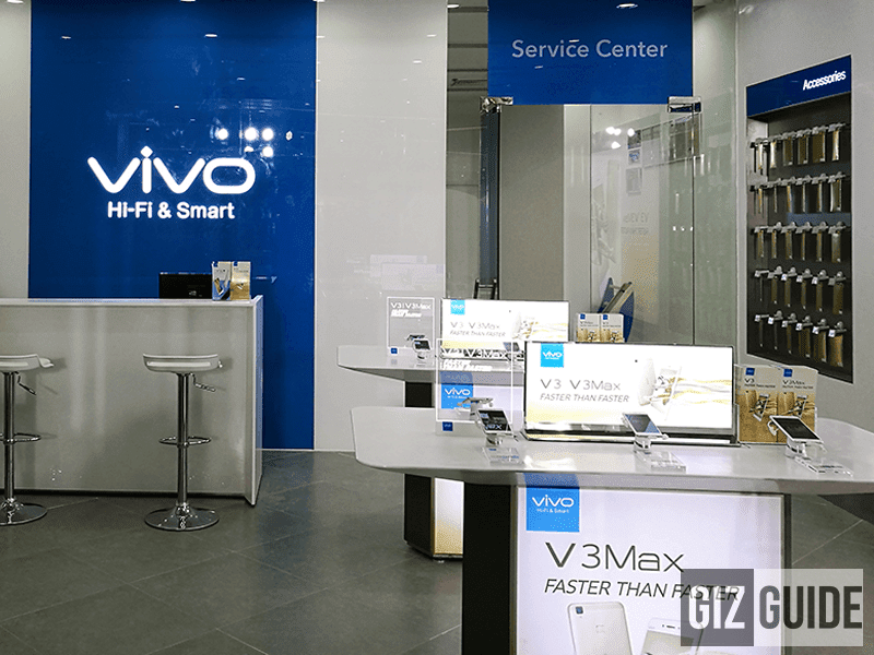 The first Vivo concept store with service center in the Philippines