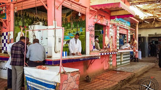 carnicerias en mercado de Rissani