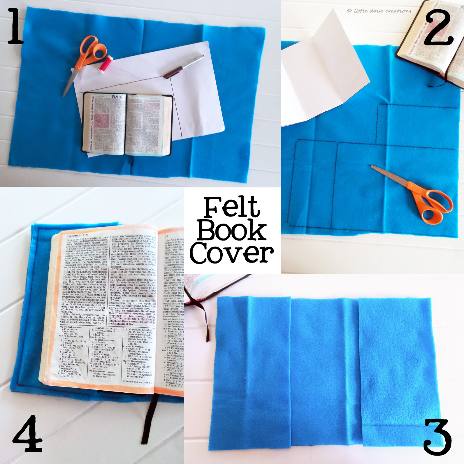 Felt Book Cover Diy ~ Diy felt book cover little dove