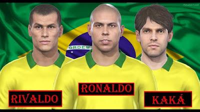 PES 2019 Facepack Rivaldo, Ronaldo, Kaka by MictlanTheGod