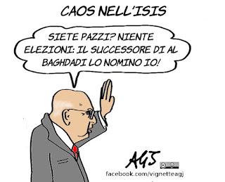 Napolitano, al baghdadi, isis, elezioni, satira, vignetta