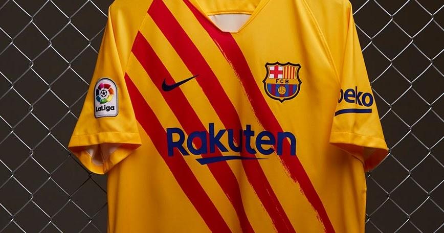 Fc Barcelona 19 20 Senyera Fourth Kit Released Full
