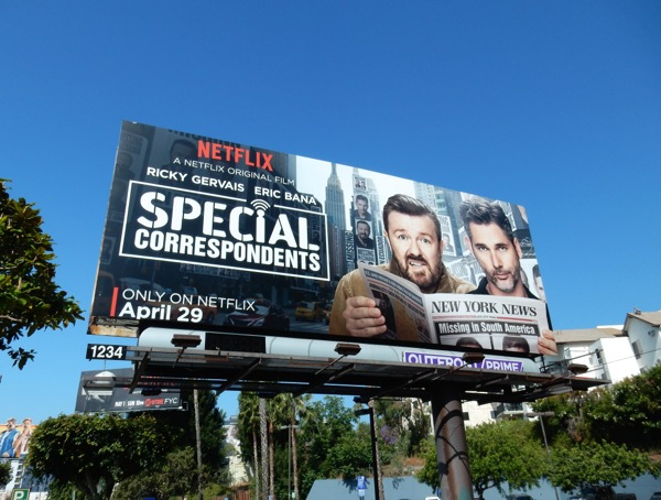 Special Correspondents film billboard