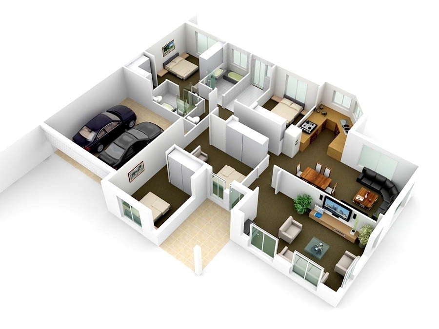 3D Floor Plan Rendering  Custom 1