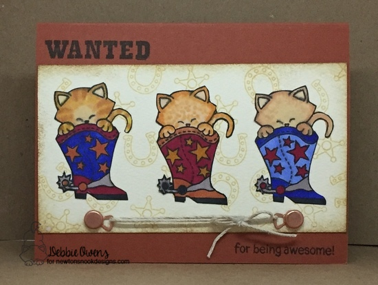 Wanted for being awesome by Debbie features Newton Rides West by Newton's Nook Designs; #newtonsnook