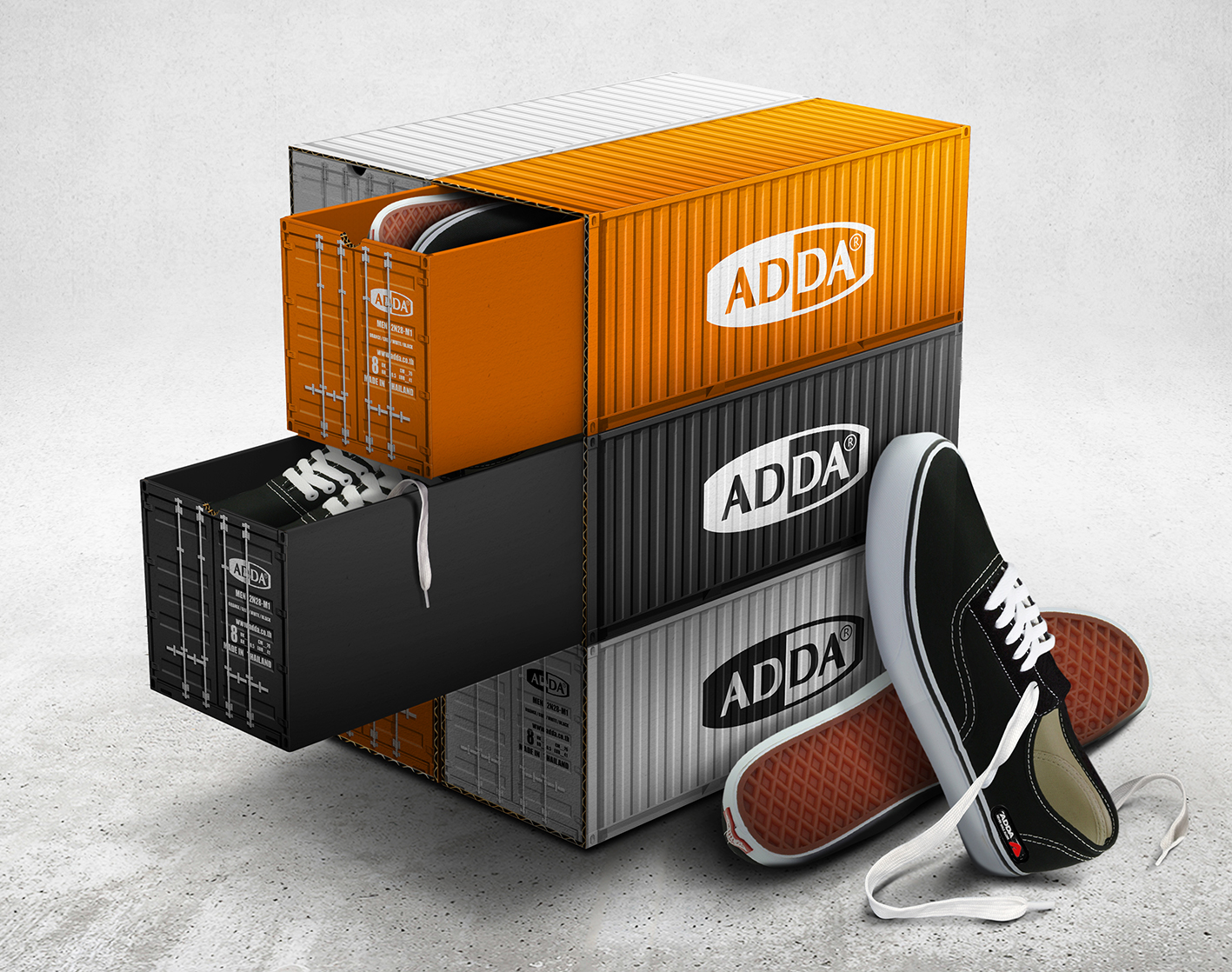 adda container shoe box on packaging of the world. Black Bedroom Furniture Sets. Home Design Ideas