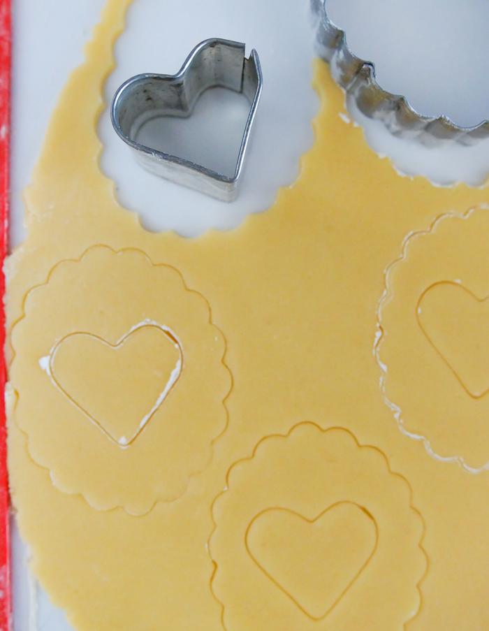 Linzer Cookies, made without a Linzer cutter