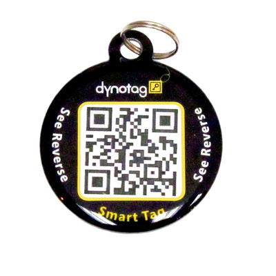 d2d86acb24ca affordable dog tag with qr code. suitable for cats too