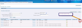 Voiding of payments in Oracle apps