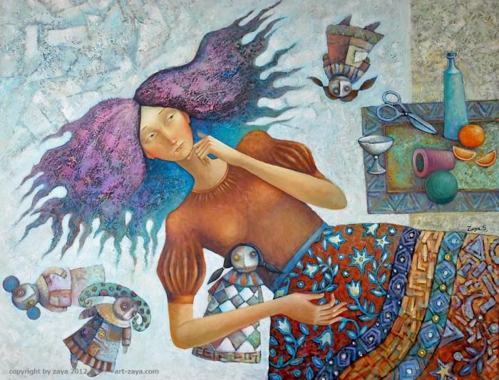 Монгольский художник. Заясайхан Самбуу 20