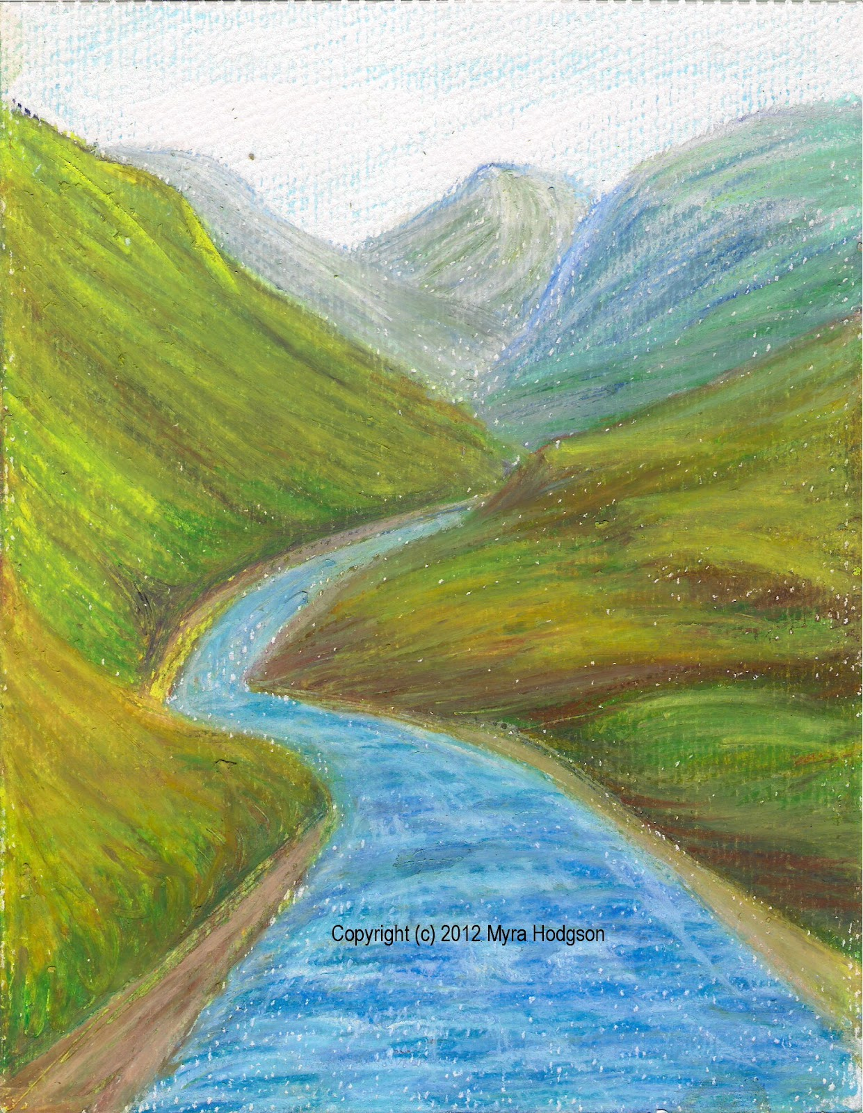 Creating landscape and seascape paintings with oil pastels