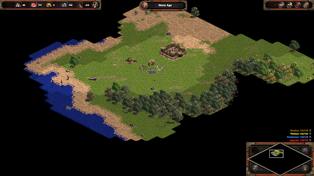 Screenshot of Age of Empires: Definitive Edition but running on Classic Mode