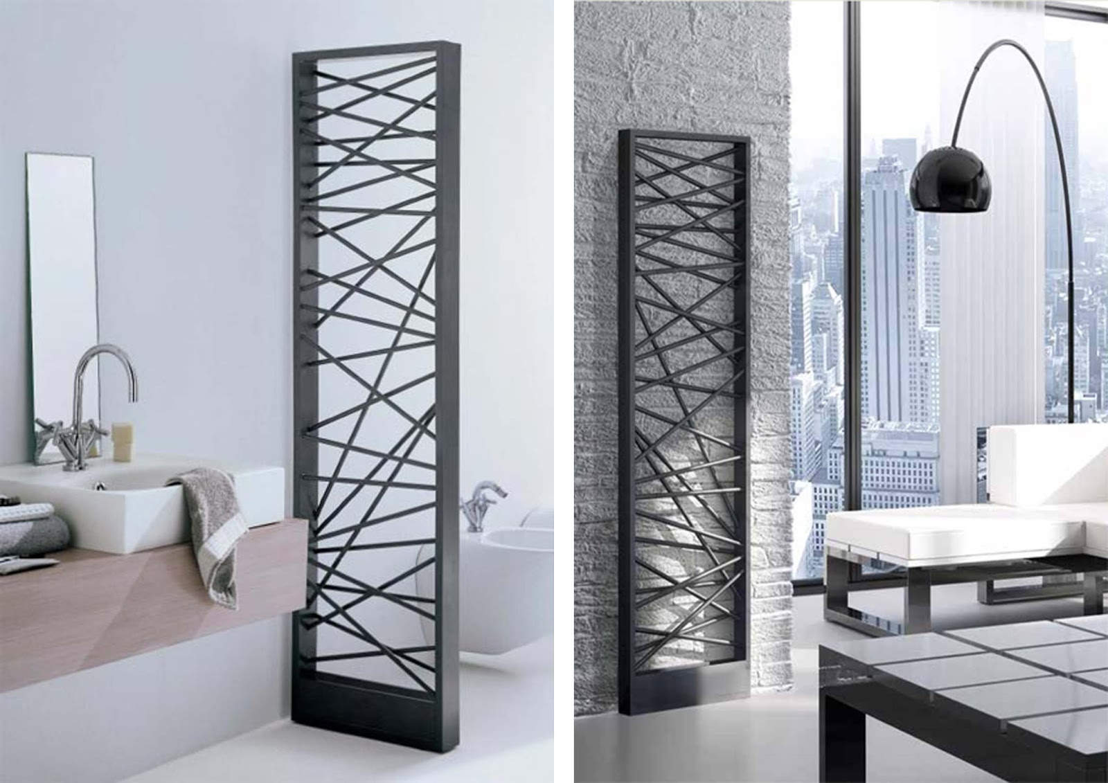 criss cross radiator room divider