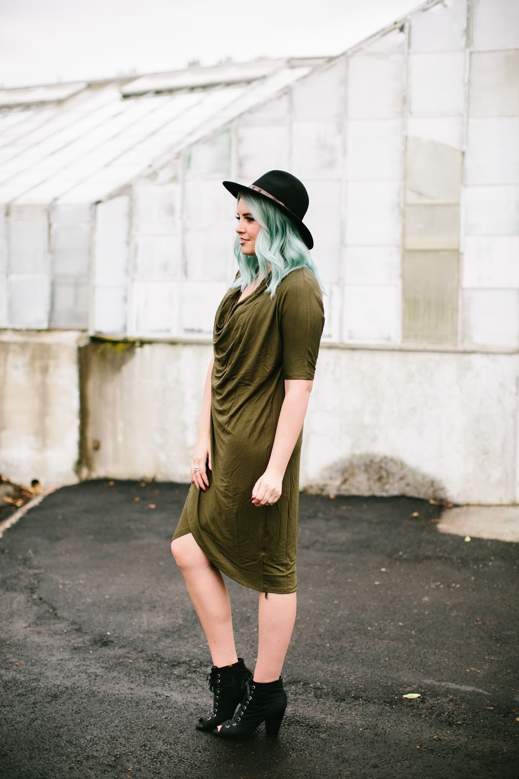 Fall Dress, Black Booties, Modest Dress