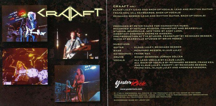 CRAAFT - Craaft [YesterRock remastered +8] booklet