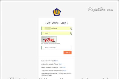 Cara Login DJP Online Pajak 2019