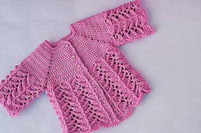 8 - Crochet IMAGEN Chambrita rosa muy fácil y sencilla. MAJOVEL CROCHET