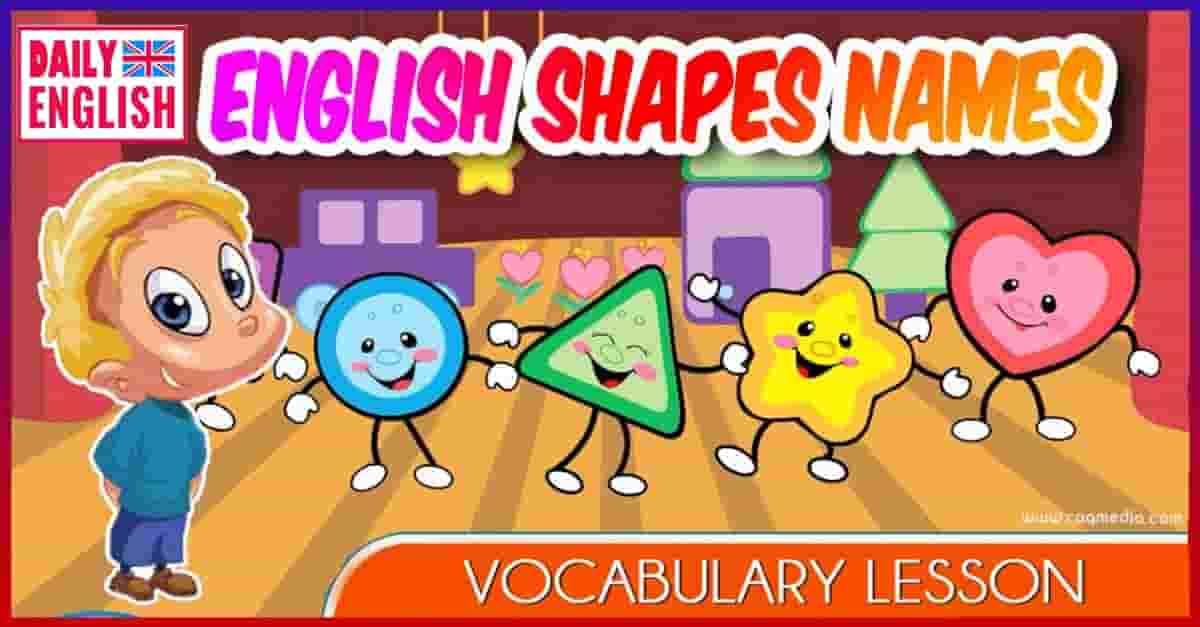 English Basic Shape Names - Vocabulary Lesson