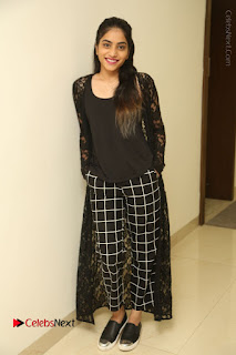 Actress Punarnavi Bhupalam Stills in Black Dress at Pittagoda Press Meet  0139.JPG