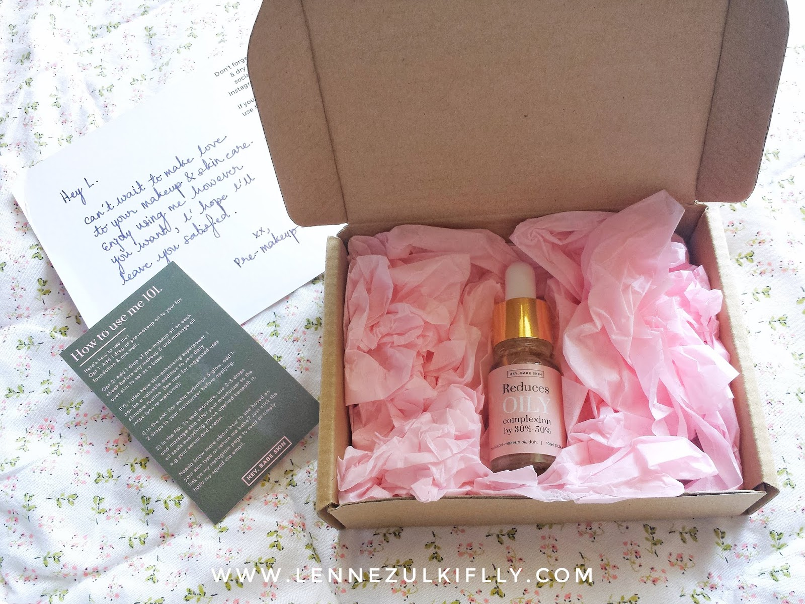 Hey, Babe Skin Pre-Makeup Oil | LENNE ZULKIFLLY