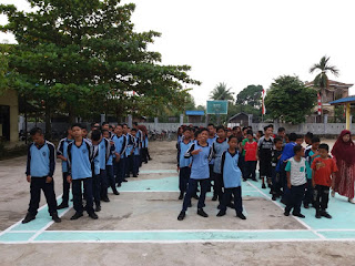 Persiapan Jalan Santai SMP Muhammadiyah Sungai Pandan