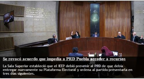 PRD si podrá recibir recursos públicos si cumple en presentar su plataforma electoral