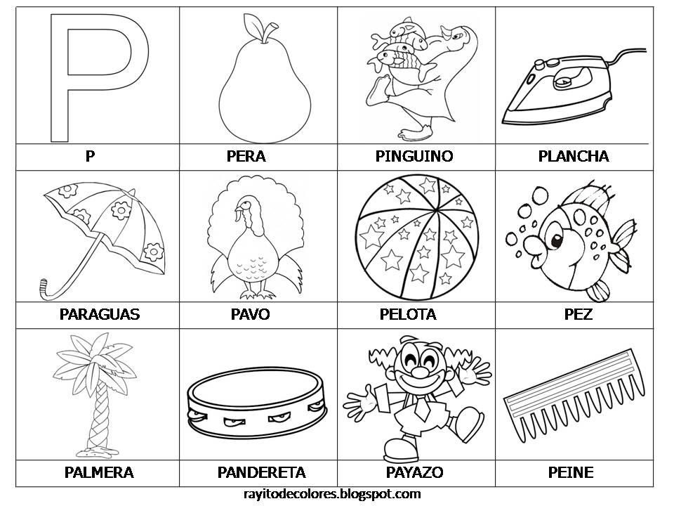 Rayito De Colores Alfabeto En Palabras De La A A La Z