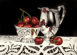 http://www.dailypaintworks.com/fineart/sandra-willard/cherries-and-silver/621362