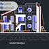 مخطط مشروع مسكن عائلي دوبلكس modern اوتوكاد dwg
