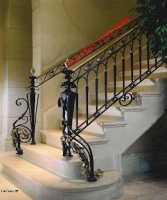 railingg besi tempa untuk rumah mewah