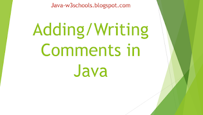 Adding-Writing Comments in Java