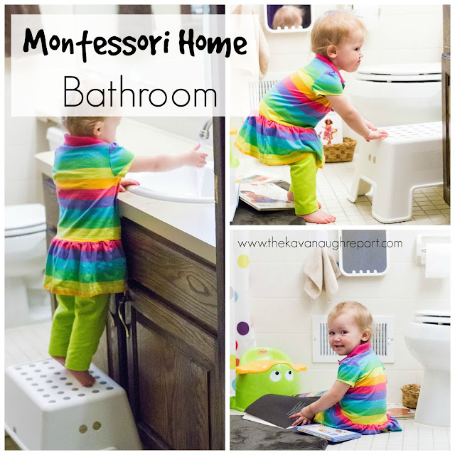 A look at our Montessori bathroom and how we have made it accessible for a toddler. Providing this accessibility helps to increase independence and encourage potty training.