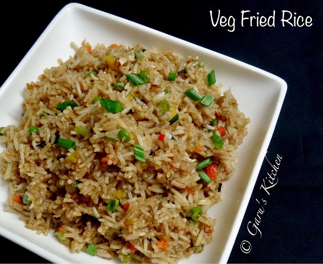 Chinese style veg fried rice | vegetable fried rice | fried rice