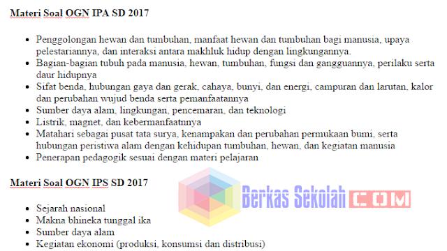 Materi Soal Ogn 2017 Sd Mata Pelajaran Matematika Ipa Ips Bahasa Indonesia Berkas Sekolah