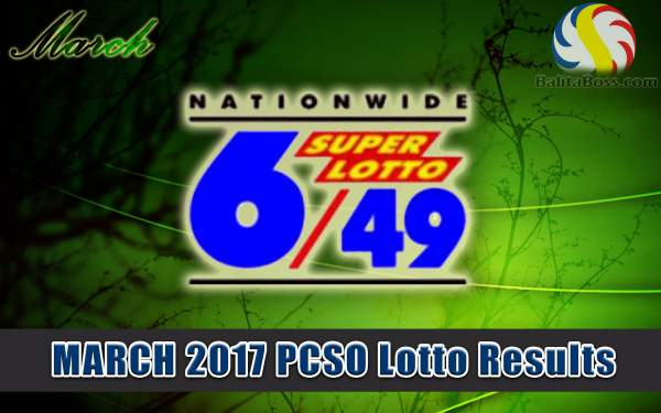 Results: March 2017 SuperLotto 6/49 PCSO Lotto