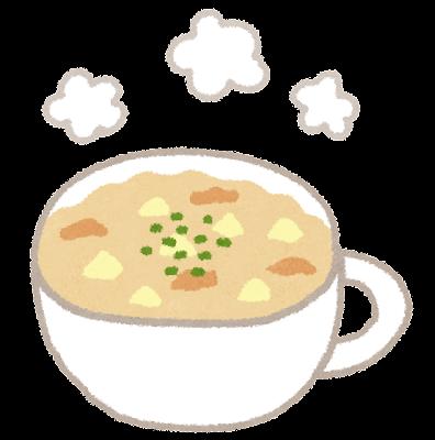 クラムチャウダーのイラスト(スープ)