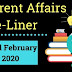 Current Affairs One-Liner: 22nd February 2020