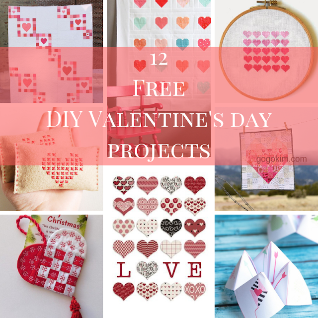 free valentines day sewing